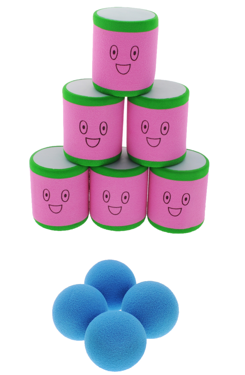 Safsof Игровой набор Городки розовый зеленый голубой городки