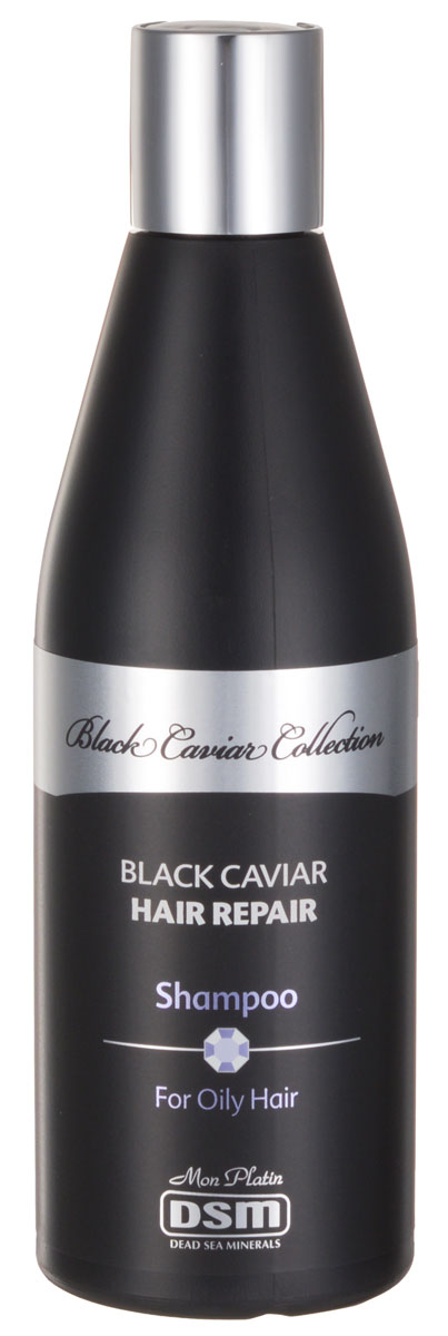 Mon Platin Восстанавливающий шампунь DSM Black Caviar Collection  для жирных волос с экстрактом черной икры 400млВС210Шампунь для жирных волос обогащен экстрактами черной икры и активными антиоксидантами (экстракт граната и апельсина), необходимыми для защиты волос. Уровень рН - 5,5. Содержит питательные элементы для ухода за кожей головы: экстракты гамамелиса, крапивы, алоэ-веры, ромашки и витамин B5. После применения шампуня волосы остаются нежными и чистыми, готовыми к нанесению кондиционера или маски для волос.