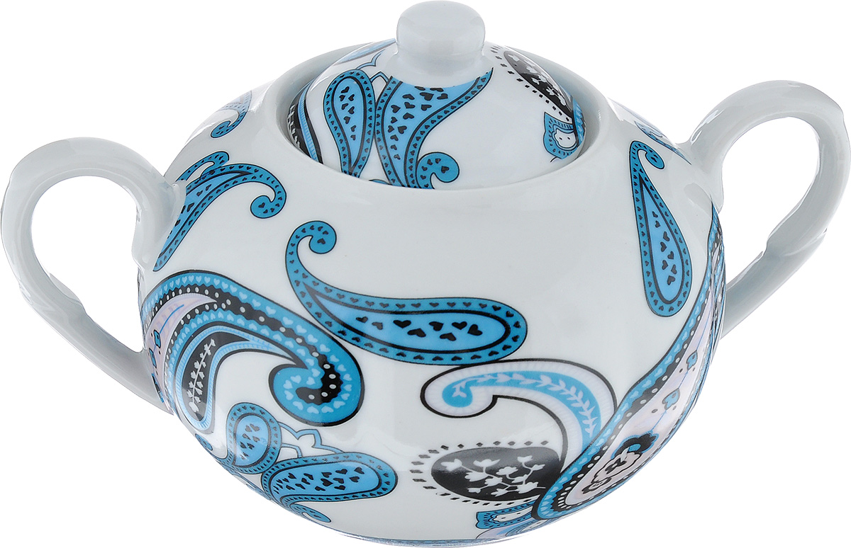 Сахарница LarangE Пейсли, цвет: белый, синий, 400 мл586-298Сахарница LarangE Пейсли выполнена из высококачественного фарфора.Внешние стенки оформлены ярким рисунком. Изделие оснащено двумя ручками и крышкой.Лаконичность иизящество форм придают сахарнице неповторимую изысканность. Эксклюзивныйдизайн, эстетичность и функциональность сахарницы делает ее незаменимой налюбой кухне.Не рекомендуется применять абразивные моющие средства. Диаметр сахарницы (по верхнему краю): 6 см.Высота сахарницы (без учета крышки): 7 см.Объем сахарницы: 400 мл.
