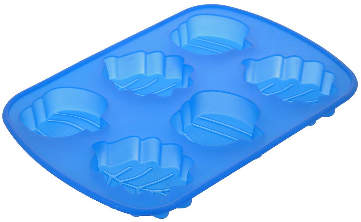 Форма для выпечки Mayer & Boch, силиконовая, цвет: синий, 6 ячеек. 2003920039Форма для выпечки Mayer & Boch изготовлена из высококачественного силикона. Стенки формы легко гнутся, что позволяет легко достать готовую выпечку и сохранить аккуратный внешний вид блюда. Форма имеет 6 разных по размеру ячеек в виде различных фигурок.Силикон - материал, который выдерживает температуру от -40°С до +230°С. Изделия из силикона очень удобны в использовании: пища в них не пригорает и не прилипает к стенкам, форма легко моется. Приготовленное блюдо можно очень просто вытащить, просто перевернув форму, при этом внешний вид блюда не нарушится. Изделие обладает эластичными свойствами: складывается без изломов, восстанавливает свою первоначальную форму. Порадуйте своих родных и близких любимой выпечкой в необычном исполнении. Подходит для приготовления в микроволновой печи и духовом шкафу при нагревании до +230°С; для замораживания до -40°.Средний размер ячейки: 7 см х 6 см х 2 см.