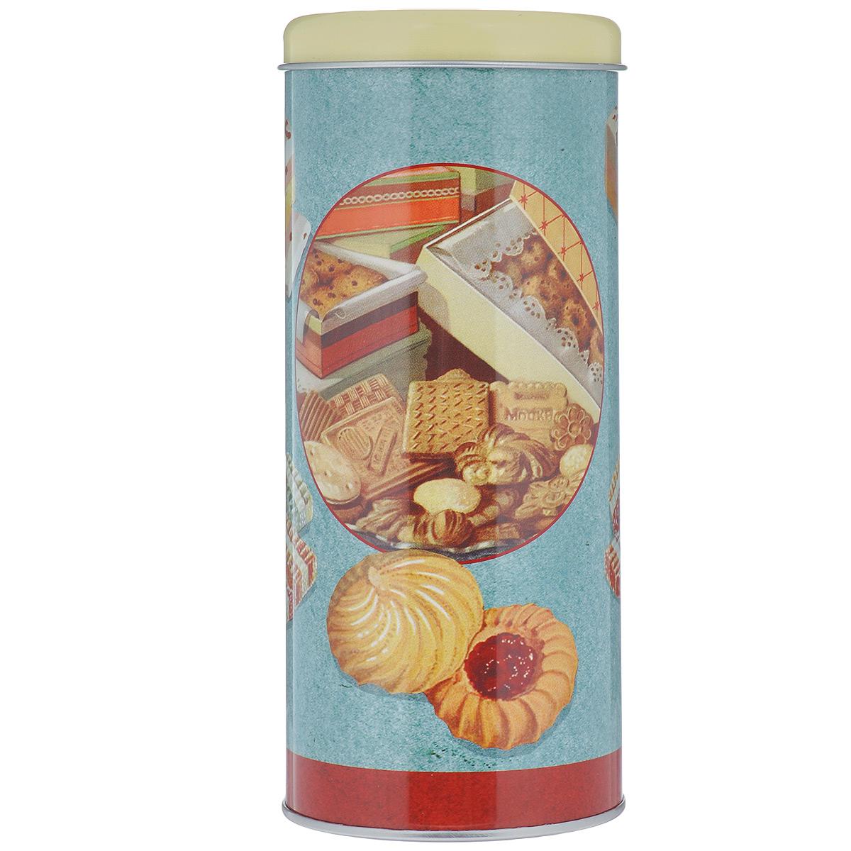 Банка для сыпучих продуктов Феникс-Презент Чаепитие, 750 мл37621Банка для сыпучих продуктов Феникс-Презент Чаепитие изготовлена из металла и оснащена крышкой. Корпус банки оформлен рисунком с изображением различных сладостей. Изделие идеально подойдет для хранения чая, кофе, сахара или других сыпучих продуктов. Банка сохраняет продукты свежими и ароматными на длительное время. Функциональная и вместительная, такая банка станет незаменимым аксессуаром и стильно оформит интерьер кухни.