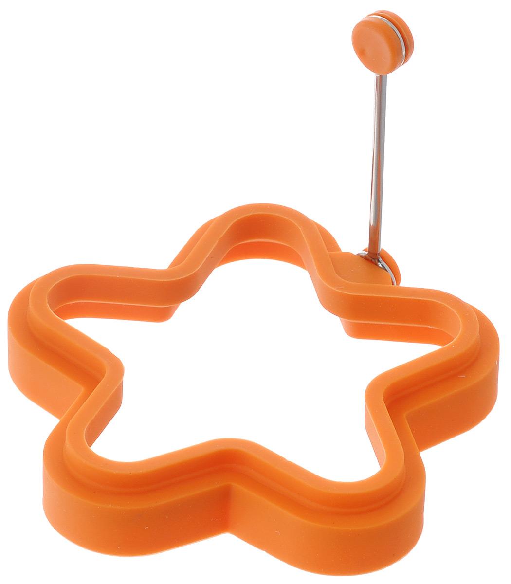 Форма для яичницы Mayer & Boch Звезда, цвет: оранжевый24191Форма Mayer & Boch Звезда изготовлена из силикона. Она предназначена для приготовления яичницы, выпекания блинов необычной формы и других блюд. Необходимо просто залить приготавливаемую массу внутрь формочки, расположенной на сковородке, и подождать, пока блюдо не дойдет до нужной кондиции. Благодаря такой формочке, вы привнесете немного оригинальности и разнообразия в свой повседневный завтрак.Можно мыть в посудомоечной машине.Размер: 11,5 см х 11,5 см х 2,2 см.