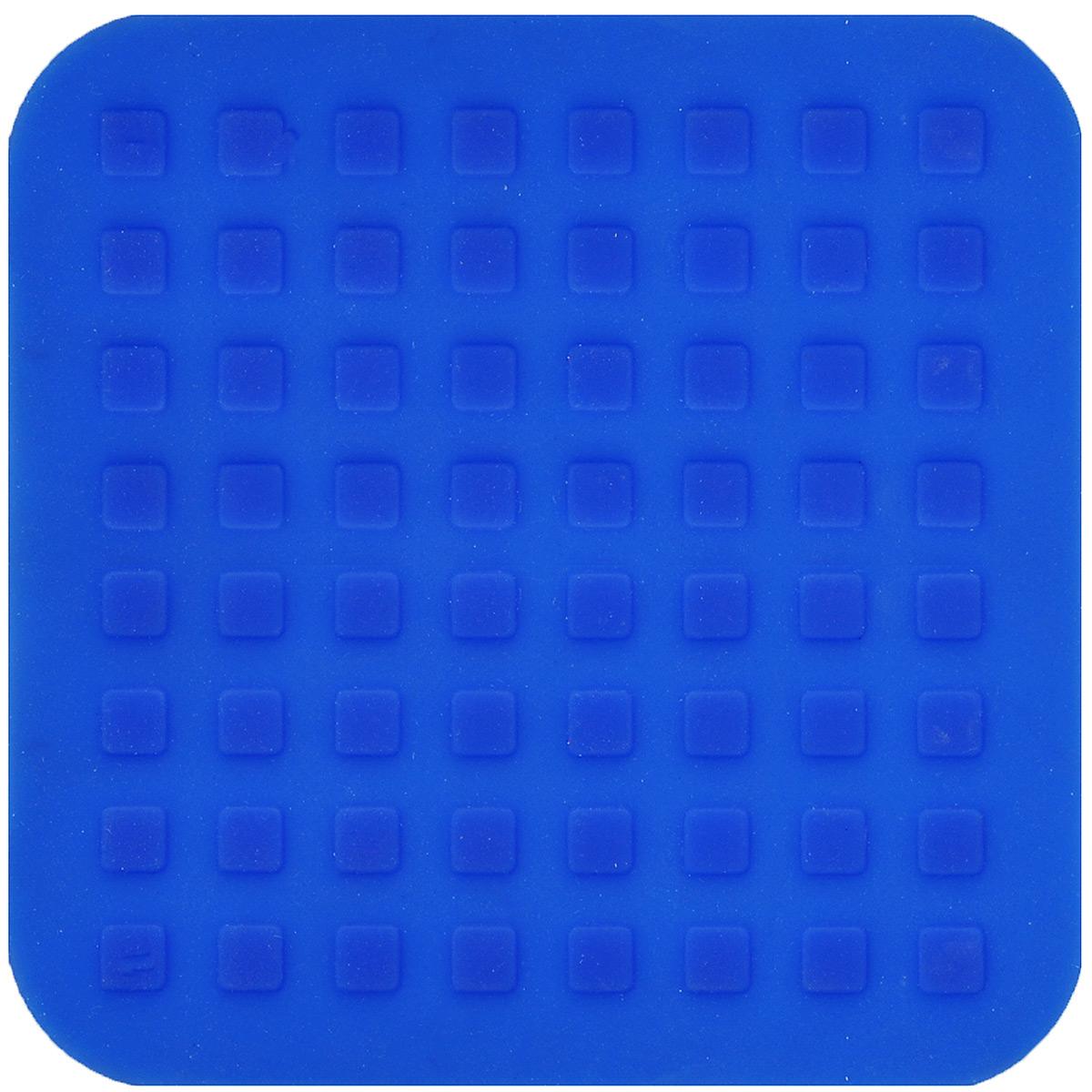 Подставка под горячее Mayer & Boch, силиконовая, цвет: синий, 16 х 16 см20058Подставка под горячее Mayer & Boch изготовлена из силикона и декорирована объемными изображениями квадратов. Материал позволяет выдерживать высокие температуры и не скользит по поверхности стола.Каждая хозяйка знает, что подставка под горячее - это незаменимый и очень полезный аксессуар на каждой кухне. Ваш стол будет не только украшен яркой и оригинальной подставкой, но и сбережен от воздействия высоких температур.