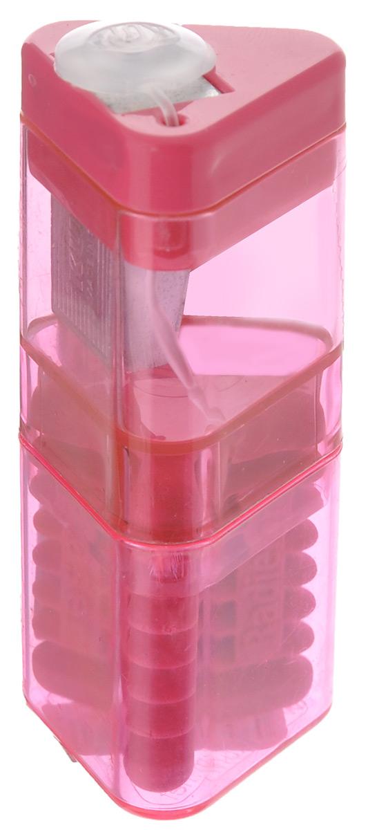 Точилка Kum Correc Tri Pop, с контейнером и ластиком, цвет: розовый63873_розовыйТочилка Kum Correc Tri Pop выполнена из пластика иметалла с эргономичной трехгранной формой корпуса,наиболее удобной для руки. Лезвие точилки имеет высокую степень заточки, благодарячему карандаш затачивается очень аккуратно и легко,оставляя тончайшую стружку. При затачивании грифель неломается и не крошится. Специальная крышка не даетстружке выпадать, прозрачный контейнер позволяет вовремяпроизводить очистку. Точилка снабжена ластиком для быстрого и чистого удалениянадписей, сделанных чернографитным карандашом.Размер точилки: 7 см х 3 см х 3 см.Размер ластика: 3,3 см х 2,5 см х 2,5 см.