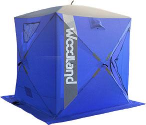 Палатка зимняя WOODLAND ICE FISH 4, цвет: синий.5379653796Размер: 180 X 180 X 210 см Материал: Oxford 420D PU 5000 мм Прозрачное полиуретановое покрытие. Каркас: Fiberglass, o 9,5 мм Окна: 2 окна, материал TPR морозостойкий. Отстегиваются на липучке Вентиляция: 2 вентиляционных окна Светоотражающие элементы: есть, с каждой стороны. Вход: один Юбка: 30 см, 8 люверсов с усилением Ввертыши: 8 шт в чехле. Кармашки: 2 шт Вес: 8,5 кг Состав материала: Oxford 420D/Fiberglass