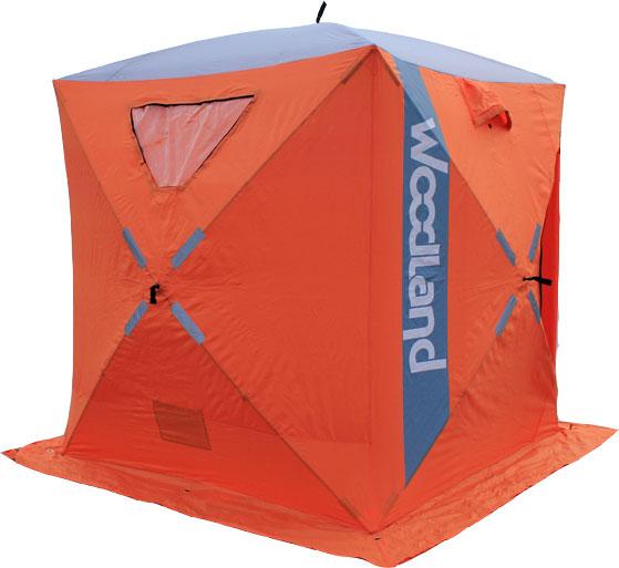 Палатка зимняя WOODLAND ICE FISH 2, цвет: оранжевый.48933
