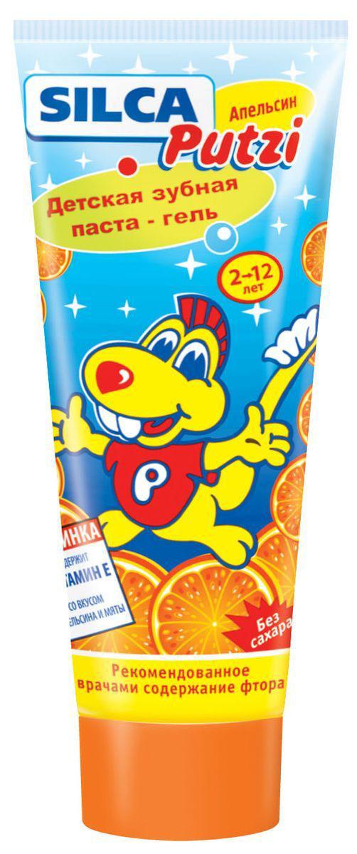 Silca Putzi Зубная паста Апельсин от 2 до 12 лет silca med зубная паста яблоко с 2 лет 65 г