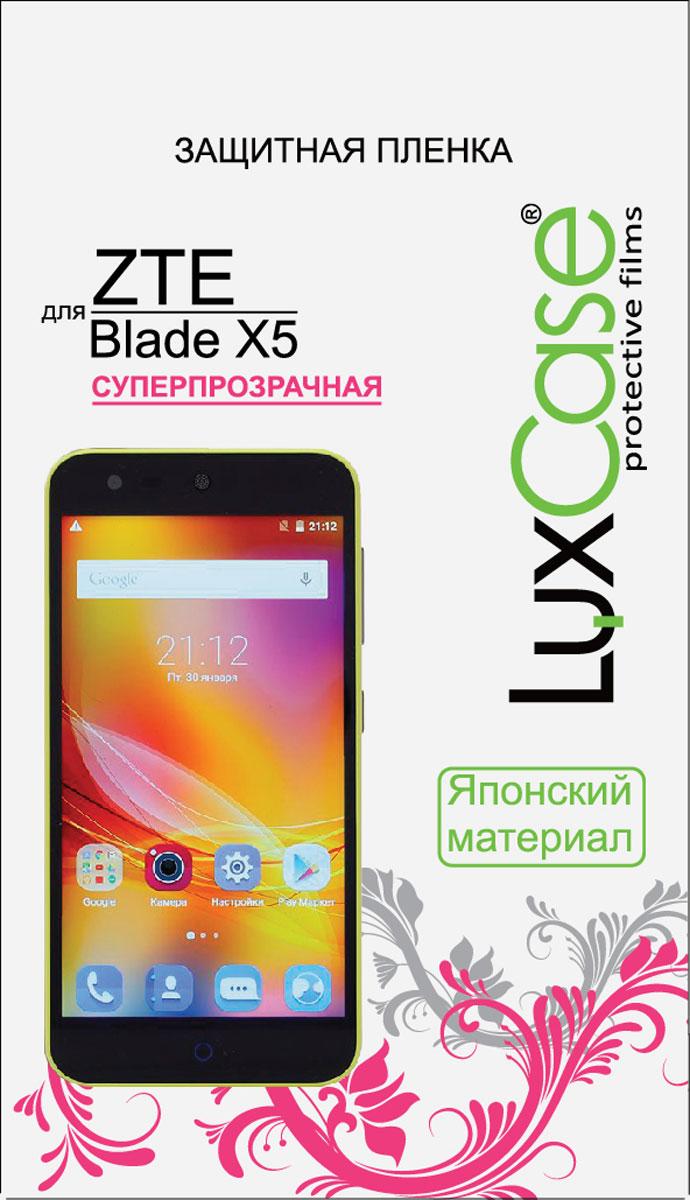 LuxCase защитная пленка для ZTE Blade X5, суперпрозрачная luxcase защитная пленка для zte blade a910 суперпрозрачная