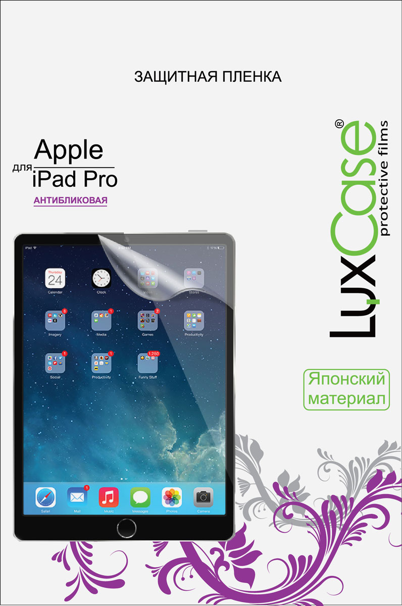 luxcase защитная пленка для highscreen easy f pro антибликовая LuxCase защитная пленка для Apple iPad Pro 12.9, антибликовая