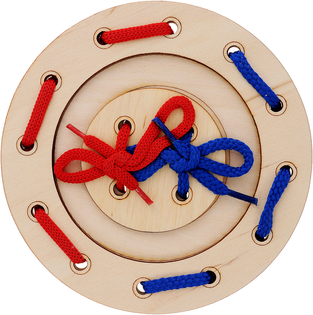 Мастер Вуд Игра-шнуровка Пуговичка цвет синий красный мастер вуд игра шнуровка пуговичка цвет синий желтый