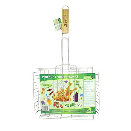 Решетка-гриль Счастливый дачник, глубокая, 31 х 25,5 х 6 см садовое освещение счастливый дачник лягушата l 0213