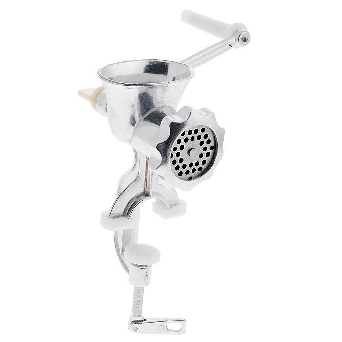 Мясорубка механическая Hebei MachineryCCCP4025-83-2AМясорубка Hebei Machinery изготовлена из алюминия и предназначена для приготовления фарша из мяса, рыбы, измельчения и профилирования теста. Она крепится винтовым зажимом к краю стола. Удобная ручка оснащена пластиковой вставкой. Мясорубка станет незаменимым помощником на вашей кухне.Размер мясорубки (без учета ручки): 9 см х 14,5 см х 22,5 см.Длина ручки: 18 см.Диаметр отверстий решетки: 4 мм.