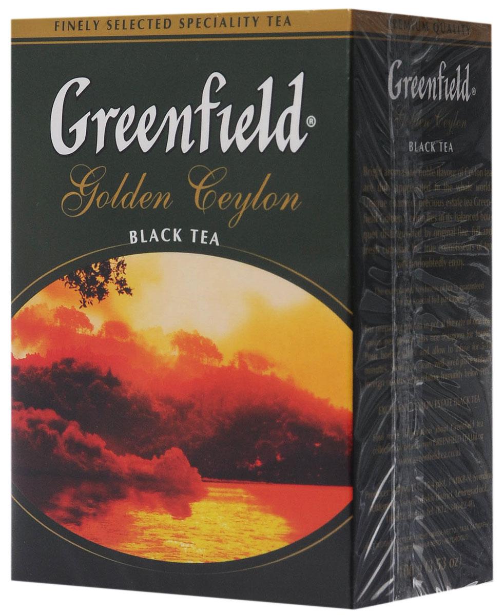 Greenfield Golden Ceylon черный листовой чай, 100 г greenfield blueberry forest черный листовой чай 250 г