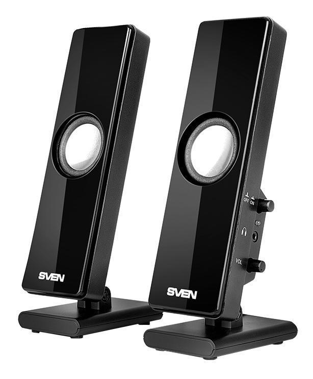 Sven 280, Black акустическая система 2.0 - Колонки для компьютера
