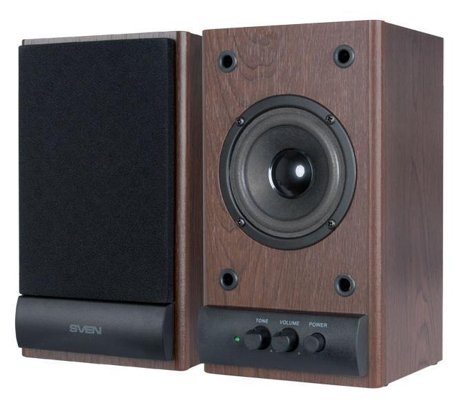 Sven SPS-607, Dark Wood акустическая система 2.0 - Колонки для компьютера