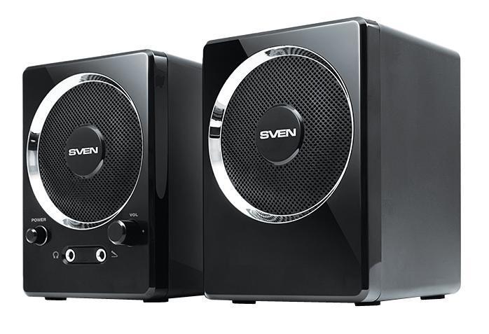 Sven 247, Black акустическая система 2.0 - Колонки для компьютера