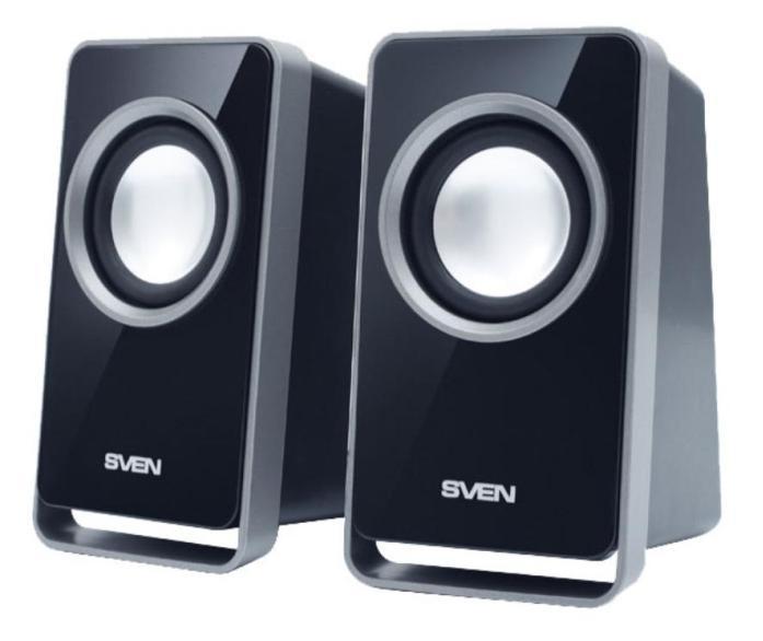 Sven 355, Black акустическая система 2.0 колонки sven 355 5 вт чёрный
