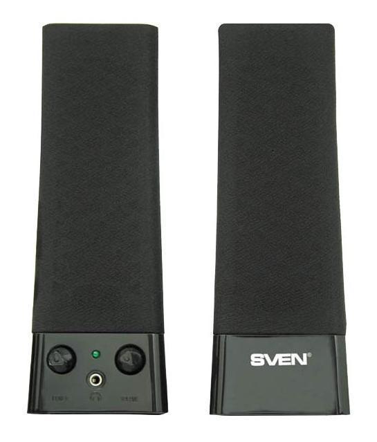 Sven 235, Black акустическая система 2.0SV-0110235BKКомпания SVEN представляет готовое решение – мультимедийные колонки начального уровня SVEN 235. Модель легко справится с поставленной задачей и не станет обузой даже для самого скромного бюджета. Удобство в использовании и строгий, лаконичный дизайн, уместный в любом окружении – вот основные достоинства SVEN 235! Регулировка громкости и выход на наушники сделают работу на компьютере проще и приятнее.Будучи одной из самых бюджетных вариантов в линейке мультимедийной акустики SVEN, 235-ая модель – это просто находка для тех, кто желает получить все самые основные функции за минимальные деньги!