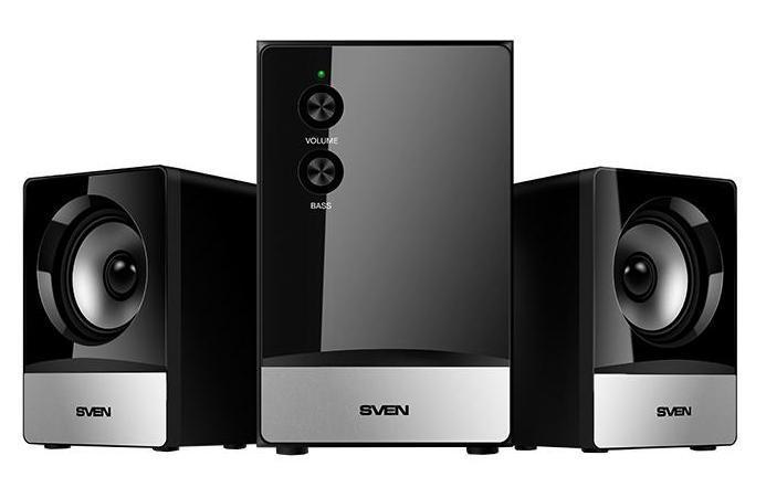 Sven MS-90, Black акустическая система 2.1 с сабвуфером акустическая система sven ms 80 black