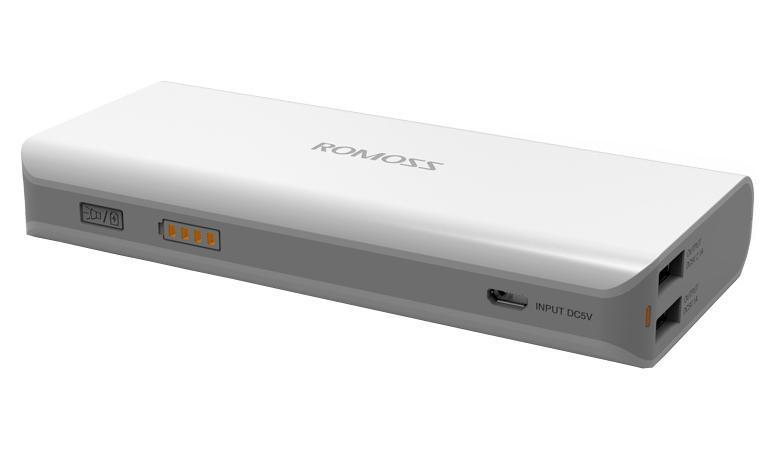 Romoss Sailing 4, White внешний аккумулятор00000008790Портативное зарядное устройство Romoss Sailing 4 (10400 мАч). Если Вы часто путешествуете или постоянно находитесь в дороге, то самым оптимальным вариантом станет приобретение Romoss Sailing 4. Этот внешний аккумулятор имеет емкость 10400 мАч. В любое время и в любом месте Вы сможете зарядить свой смартфон и планшет. Он имеет 2 USB выхода и может заряжать 2 устройства одновременно. Есть возможность быстрой зарядки вашего планшета через порт 2,1 А.OMOSS sailing 4 позволяет подзарядить телефон или другое мобильное устройство в любом месте, где нет доступа к электричеству. Данная модель имеет высокую емкость, режим автоматического отключения и долгий период сохранения заряда. Оно отлично подходит для походов, путешествий и для тех случаев, когда не хватает емкости стандартного аккумулятора. Данная модель имеет встроенный фонарик. Устройство имеет 2 порта USB, позволяющие одновременно заряжать 2 ваших гаджета. Идеально подходит для зарядки телефонов, плашшетов, электронных книг и других мобильных устройств. Для зарядки вашего гаджета требуется USB-кабель, который идет в комплекте с вашим устройством или приобретается отдельно.