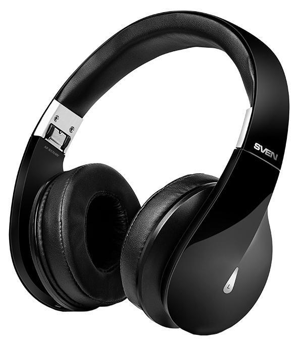 Sven AP-B570MV, Black беспроводные наушники с микрофономSV-013011Компания SVEN представляет блестящую модель – Bluetooth-стереогарнитуру AP-B570MV. В этой модели соединились запоминающийся дизайн и яркий, насыщенный звук.Широкий частотный диапазон SVEN AP-B570MV позволяет получить истинное наслаждение от прослушивания музыки любых жанров. Крупные чашки наушников идеально прилегают к ушам и обеспечивают надежную шумоизоляцию . Гарнитура SVEN – это качественный звук без помех даже в транспорте или в толпе людей.Черный глянцевый корпус гарнитуры выглядит стильно и солидно. Он легко складывается – для большой гарнитуры найдется место и в женской сумочке, и в упакованном под завязку чемодане. Крупные амбушюры AP-B570MV отделаны особым влагонепроницаемым материалом High protein с мягкими подушечками, обеспечивающим повышенный комфорт в использовании устройства.Новая версия Bluetooth обеспечивает крайне экономный расход энергии. Без дополнительной подзарядки модель способна проработать почти сутки. В комплекте со SVEN AP-B570MV поставляется кабель – если аккумулятор разрядится в неподходящий момент, гарнитуру можно подключить к мобильному устройству как обычные проводные наушники. Со SVEN AP-B570MV вам не придется отвлекаться от любимых занятий!