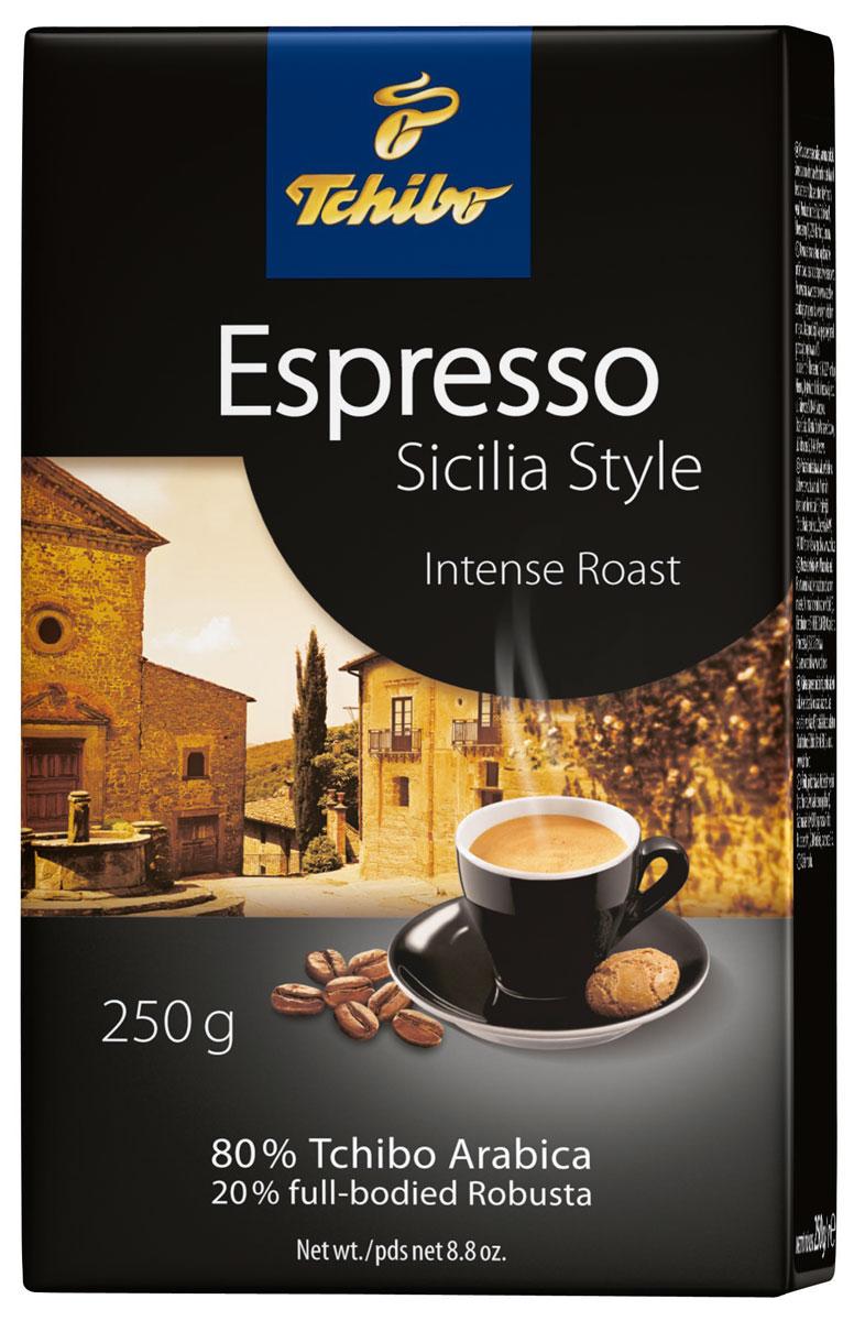 Tchibo Espresso Sicilia Style кофе молотый, 250 г лопатка tchibo