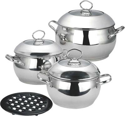Набор кухонной посуды Calve, с подставкой, 7 предметов
