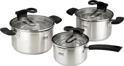Набор кухонной посуды Calve, цвет: серебристый, 6 предметов