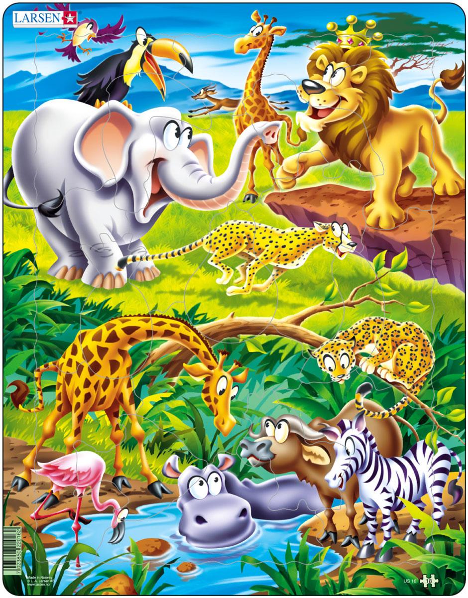 Larsen Пазл Животные сафари