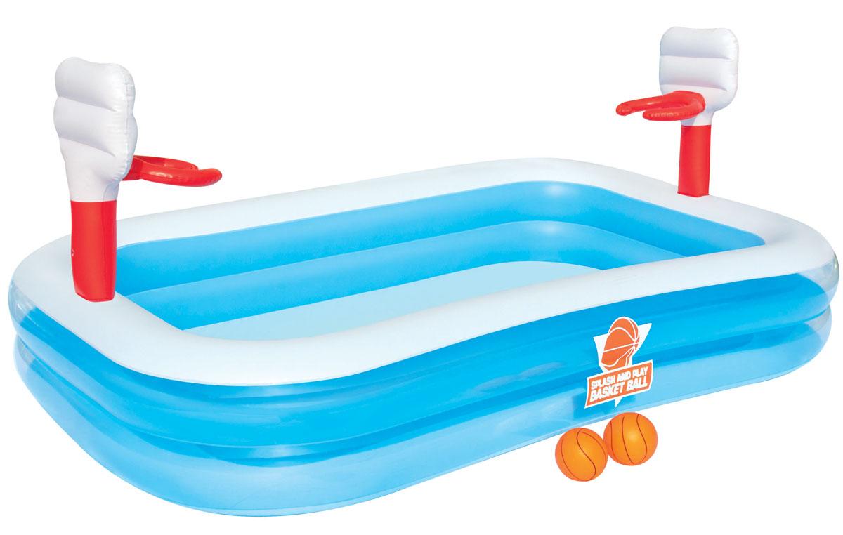 Bestway Бассейн надувной игровой Баскетбол. bestway детский игровой бассейн баскетбол bestway