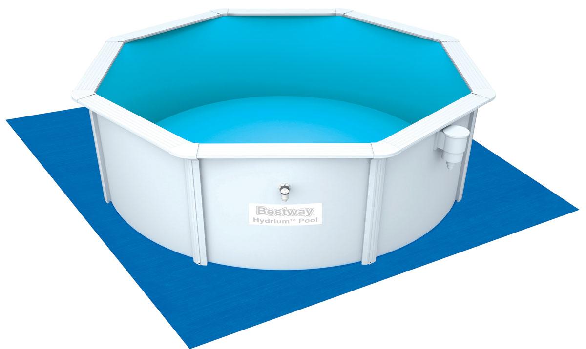 Bestway Подстилка для бассейнов, 396 х 396 см. 5800258002Подстилка на землю Bestway выполнена из нового износостойкого материала. Изделие отлично защищает дно надувных и каркасных бассейнов. Подходит для бассейнов диаметром до 366 см.