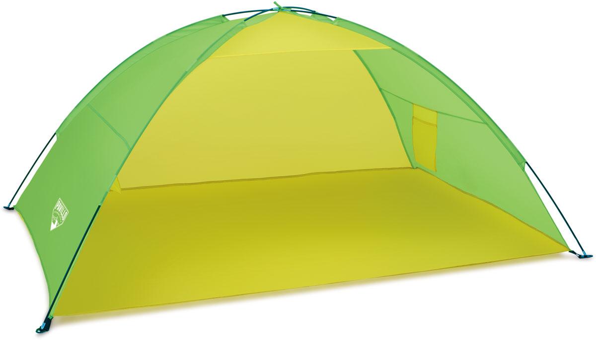 Bestway Палатка пляжная, 200 х 130 х 90 см. 6804468044Изготовлено из полиэстера и полимерных материалов. Легко собирается. Внутри кармашек для хранения личных вещей. Размер: 1,92 х 1,2 х 0,85 м. Что взять с собой в поход?. Статья OZON Гид
