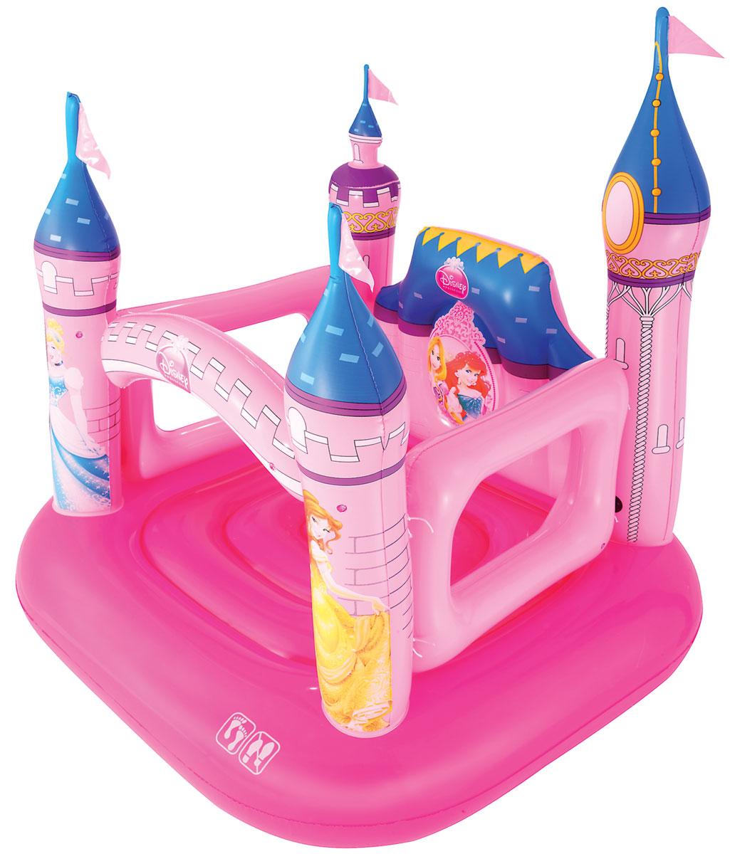 """Детский надувной батут Bestway """"Замок"""" идеально подойдет для веселых детских игр, как на улице, так и дома. Батут представляет собой абсолютно безопасную конструкцию, изготовлен из прочного и испытанного винила. Батут имеет съемные прочные стены. На нем можно выполнять как простые прыжки, так и гимнастические упражнения. Батут имеет предохранительные клапаны. Оформлен в стиле диснеевских принцесс. С детским надувным батутом в любое время года можно устроить незабываемый день рождения."""