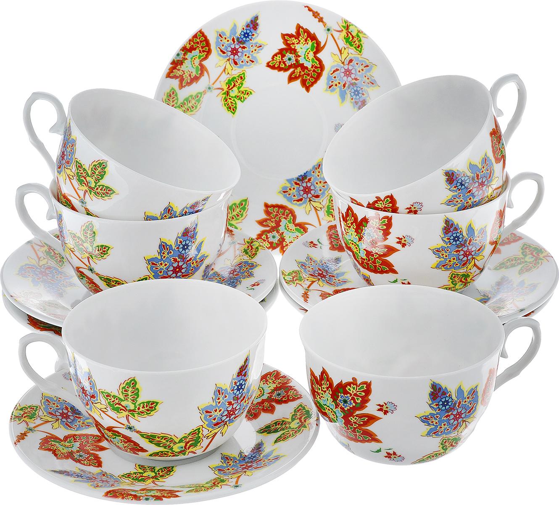 Чайный набор LarangE Восточный микс, цвет: оранжевый, синий, зеленый, 12 предметов586-318Чайный набор LarangE Восточный микс состоит из шести чашек и шести блюдец,изготовленных из фарфора. Предметы набора оформленыизящным ярким рисунком.Чайный набор LarangE Восточный микс украсит ваш кухонный стол, а такжестанет замечательным подарком друзьям и близким.Объем чашки: 250 мл.Диаметр чашки по верхнему краю: 9 см.Высота чашки: 6 см.Диаметр блюдца: 14,5 см.