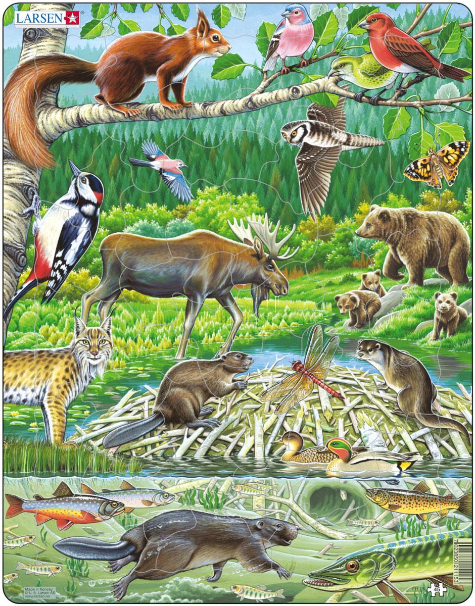 Larsen Пазл Северный лес пазлы larsen as пазл динозавры