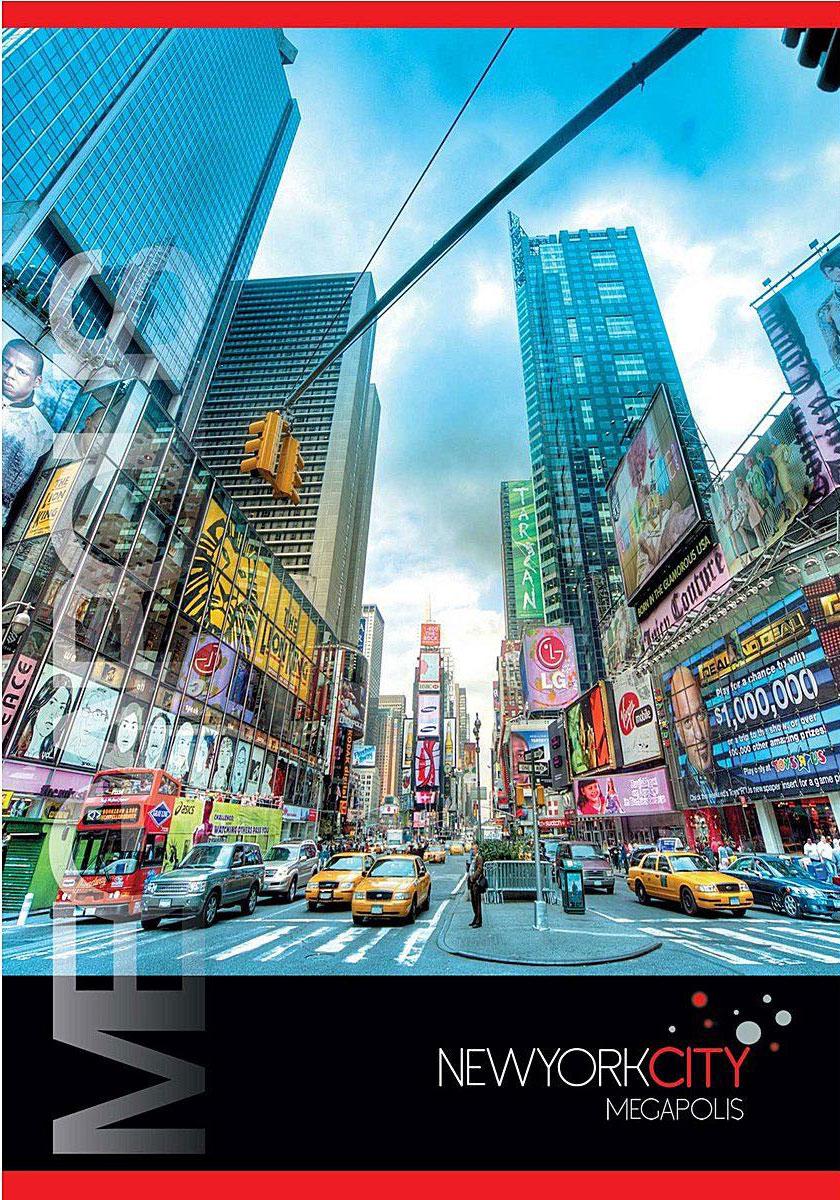 ACTION! Тетрадь Нью-Йорк Мегаполис в клетку 80 листовANS4 8007/5_улица 1Тетрадь с обложкой из картона, защищающей бумагу от деформации. Отличный выбор для Вашего ребенка!