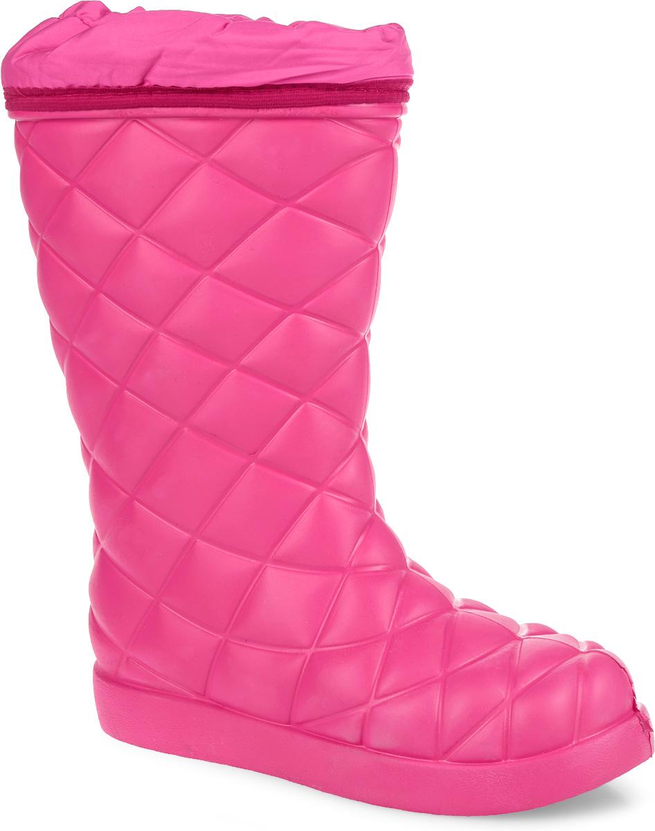 Сапоги женские Woodline, цвет: розовый. 990-45. Размер 38-39990-45Невероятно теплые женские сапоги от Woodline выполнены из морозостойкого вспененного полимера и дополнены по канту текстильной вставкой из водоотталкивающей ткани Оксфорд. Комплектуются вкладным чулком, изготовленным из комбинации натурального меха с овечьей шерстью, и металлизированным фольгой с дополнительным усилением пяточной части. Слой высокотехнологичного нетканого полотна со структурой волокон, копирующей структуру волоса, позволяет добиться большего сохранения тепла. Мембранная сетка предназначена для защиты фольги от истирания. Вкладная стелька, дополненная прослойкой из фольги, исполнена из натурального меха и шерсти. Температура тепла сохраняется до -45°С. Подошва с протектором гарантирует идеальное сцепление с любой поверхностью. В таких сапогах вашим ногам всегда будет комфортно, уютно и тепло!