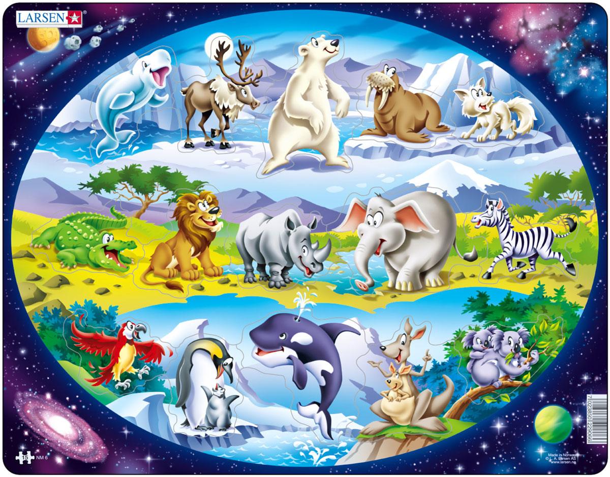 Larsen Пазл Планета животных пазлы astrel пазл зайчик весна 16 эллементов