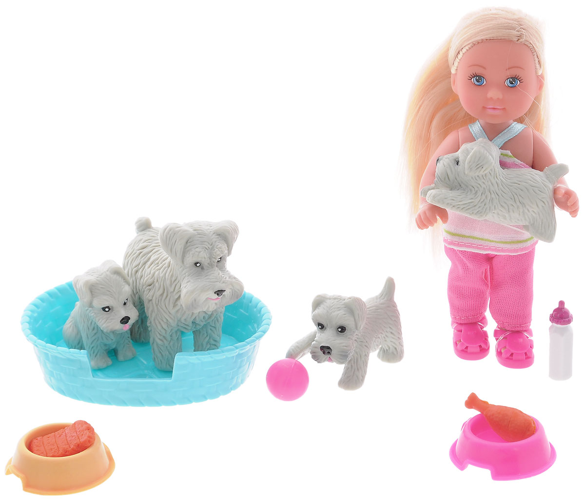 Simba Игровой набор с мини-куклой Еви с домашними животными simba кукла evi