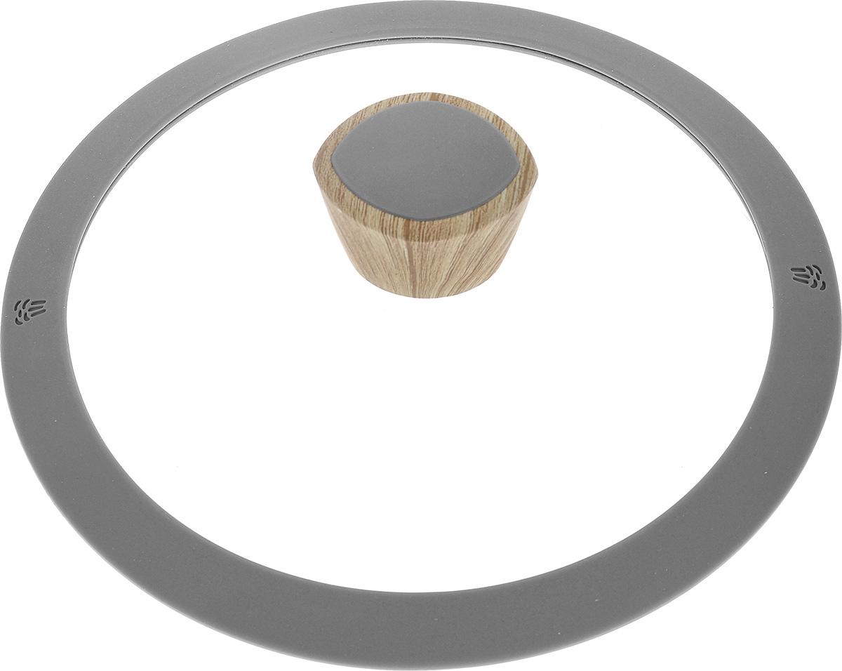 Крышка Nadoba Mineralica. Диаметр 20 см751215Крышка Nadoba Mineralica изготовлена из прозрачного термостойкого стекла. Обод, выполненный из высококачественного силикона, обеспечивает плотное прилегание крышки. Удобная ручка из бакелита с покрытием Soft-touch защитит ваши руки от высоких температур и предотвратит выскальзывание. Изделие удобно в использовании и позволяет контролировать процесс приготовления пищи. Можно мыть в посудомоечной машине. Высота крышки (с учетом ручки): 5,5 см.