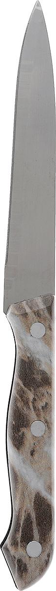 Нож кухонный Miolla, длина лезвия 12,5 см. 1508013U1508013UКухонный нож Miolla - незаменимый помощник на вашей кухне. Лезвие изготовлено из стали. Стальные лезвия более стойкие к воздействию кислот, содержащихся в продуктах, они более гигиеничны и не подвержены коррозии. Кроме того, лезвия из стали сохраняют остроту дольше, чем другие ножи. Легкая, отлично сбалансированная и приятная на ощупь рукоятка удобна в использовании. Кухонный нож используется для нарезания и шинковки любых продуктов. Можно мыть в посудомоечной машине. Общая длина ножа: 23 см.