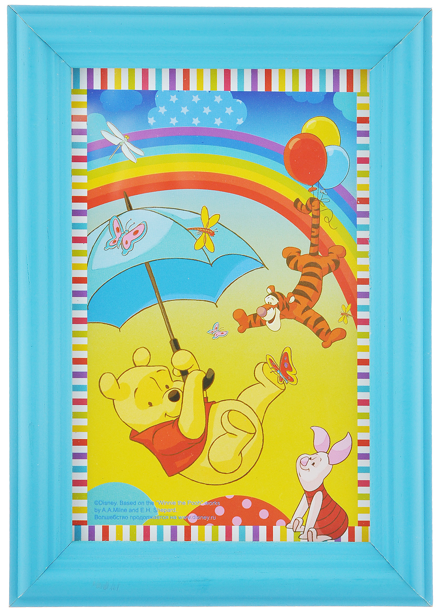 Фоторамка Vertigo Disney, цвет: голубой, 10 х 15 см12582 WF-1073/582_голубойФоторамка Vertigo Disney выполнена из дерева и стекла, защищающего фотографию. Оборотная сторона рамки оснащена специальной ножкой, благодаря которой ее можно поставить на стол или любое другое место в доме или офисе. Также изделие оснащено специальными отверстиями для подвешивания на стену.Такая фоторамка поможет вам оригинально и стильно дополнить интерьер помещения, а также позволит сохранить память о дорогих вам людях и интересных событиях вашей жизни.