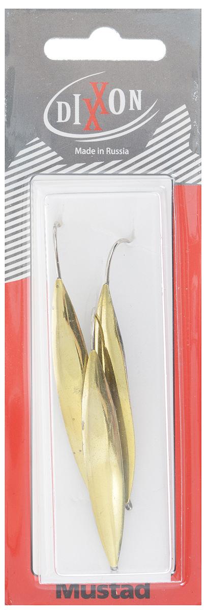 Блесна зимняя Dixxon Крокодил, цвет: латунь, 6,8 г, 3 шт46126Блесна зимняя Dixxon Крокодил предназначена для отвесного блеснения рыбы, то есть блесну опускают на леске вертикально вниз и затем ритмично подергивают короткое удилище, чтобы блесна находилась в движении. Блесна оснащена одинарным впаянным крючком. Имеется отверстие для крепления лески.