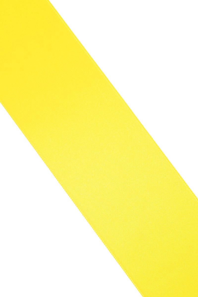 Лента атласная Prym, цвет: желтый, ширина 50 мм, длина 25 м695807_31Атласная лента Prym изготовлена из 100% полиэстера. Область применения атласной ленты весьма широка. Изделие предназначено для оформления цветочных букетов, подарочных коробок, пакетов. Кроме того, она с успехом применяется для художественного оформления витрин, праздничного оформления помещений, изготовления искусственных цветов. Ее также можно использовать для творчества в различных техниках, таких как скрапбукинг, оформление аппликаций, для украшения фотоальбомов, подарков, конвертов, фоторамок, открыток и многого другого.Ширина ленты: 50 мм.Длина ленты: 25 м.