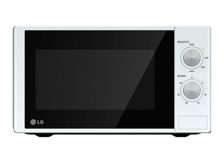 LG MS-2022D СВЧ-печьMS-2022DМикроволновая печь LG MS2022D - это простая и недорогая модель с механическим интуитивно понятным управлением. С ее помощью вы в кратчайшие сроки разогреете или разморозите продукты, а также приготовите различные блюда. Дверца легко открывается при помощи кнопки. Внутренняя поверхность печи имеет эмалированное покрытие Easy Clean, которое без труда оттирается от пищевых загрязнений.Равномерный нагрев пищи и компактный размер корпуса Благодаря технологии I-wave содержимое печи равномерно нагревается по всему объему. Блюда одинаково нагреются как в центре, так и по краям. На размораживание продуктов, лежавших в морозилке, уйдет лишь несколько минут. Микроволновая печь LG MS 2022D отличается компактными габаритами, поэтому прекрасно подходит для тесной кухни, а ее универсальный дизайн будет уместен в любом интерьере.