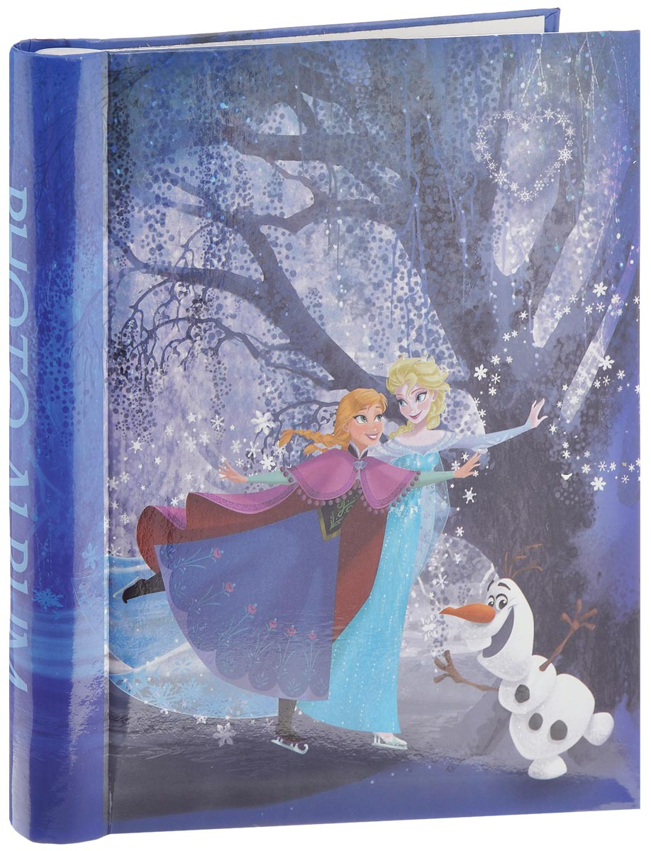 """Фотоальбом Pioneer """"Frozen sisters"""", изготовленный из картона  с клеевым покрытием и пленки ПВХ, сохранит моменты ваших  счастливых мгновений на своих страницах! Обложка  оформлена красочным изображением героинь мультфильма.  Листы размещены на пластиковых кольцах. Альбом с  """"магнитными"""" листами удобен тем, что он позволяет  размещать фотографии разных размеров.  """"Магнитные"""" страницы обладают следующими  преимуществами:  - Не нужно прикладывать усилий для закрепления  фотографий,  - Не нужно заботиться о размерах фотографий, так как вы  можете вставить в альбом фотографии разных размеров,  - Защита фотографий от постоянных прикосновений зрителей  с помощью пленки ПВХ. Нам всегда так приятно вспоминать о самых счастливых  моментах жизни, запечатленных на фотографиях. Поэтому  фотоальбом является универсальным подарком к любому  празднику. Вашим родным, близким и просто знакомым будет  приятно помещать фотографии в этот альбом. Количество листов: 20 шт."""