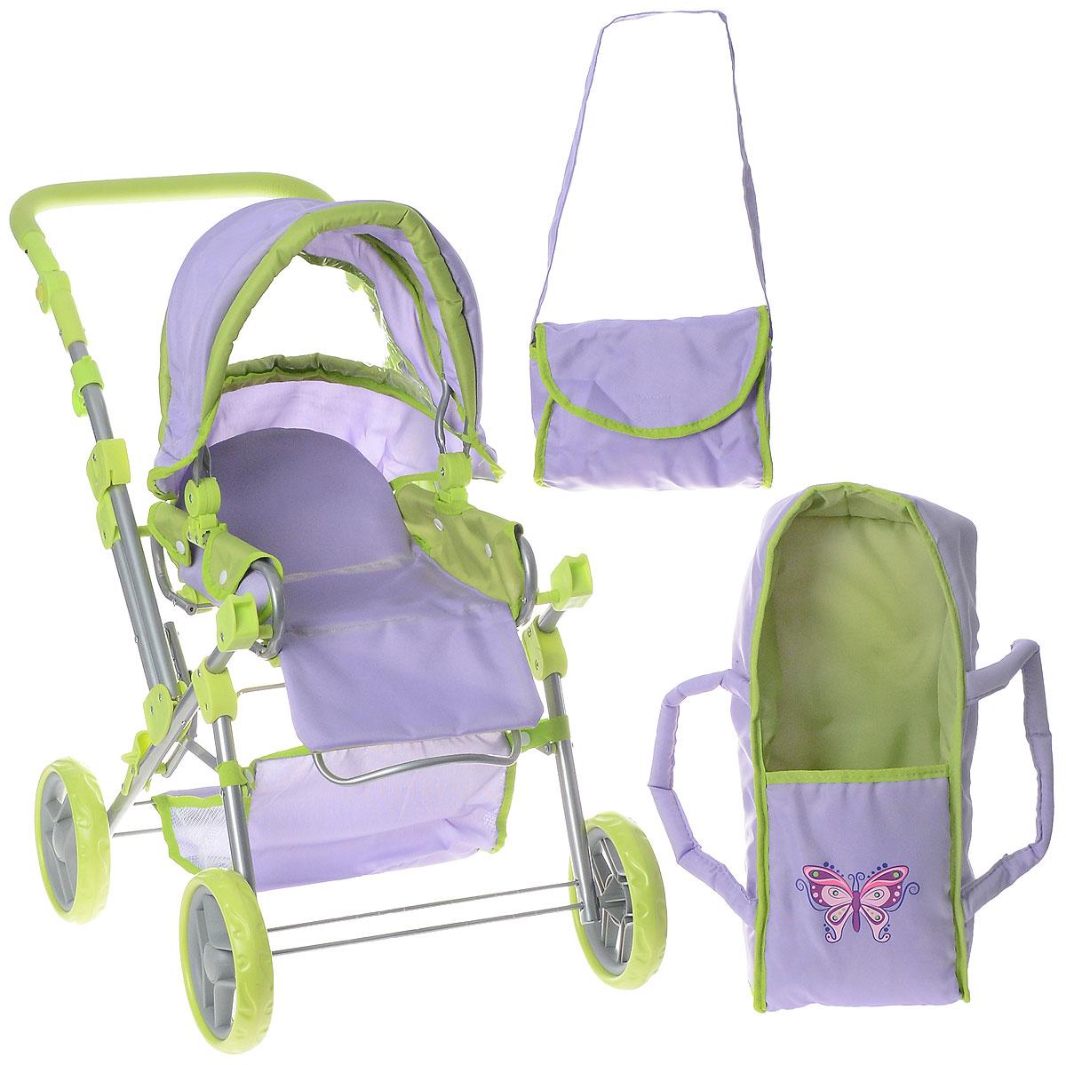 Наша Игрушка Коляска-трансформер Бабочка коляска лицом к маме прогулочная купить