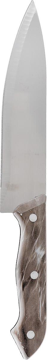 Нож универсальный Miolla, длина лезвия 17,5 см1508010UНож универсальный Miolla изготовлен из высококачественной стали. Очень удобная и эргономичная рукоятка, изготовленная из пластика, не позволит скользить ножу в руках и обеспечит безопасность при нарезке продуктов. Нож предназначен для нарезки мяса, овощей и фруктов.Такой нож займет достойное место среди аксессуаров на вашей кухне.Можно мыть в посудомоечной машине.Длина ножа: 30 см.