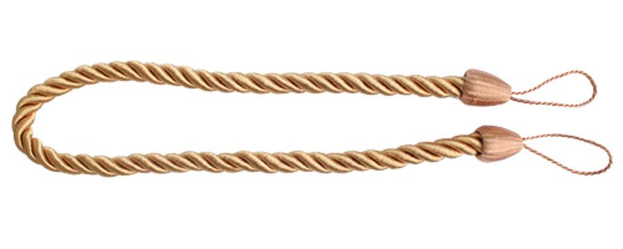 """Подхват для штор Goodliving """"Шнур"""" выполнен в  виде витого шнура, на обоих  концах которого имеются петли для крепления  подхвата на крючок. Подхват - это основной вид фурнитуры в декоре  штор, сочетающий в себе не только декоративную  функцию, но и практическую - регулировать поток  света. Подхваты способны украсить любую  комнату. Длина подхвата: 52 см.  Диаметр подхвата: 1,5 см."""