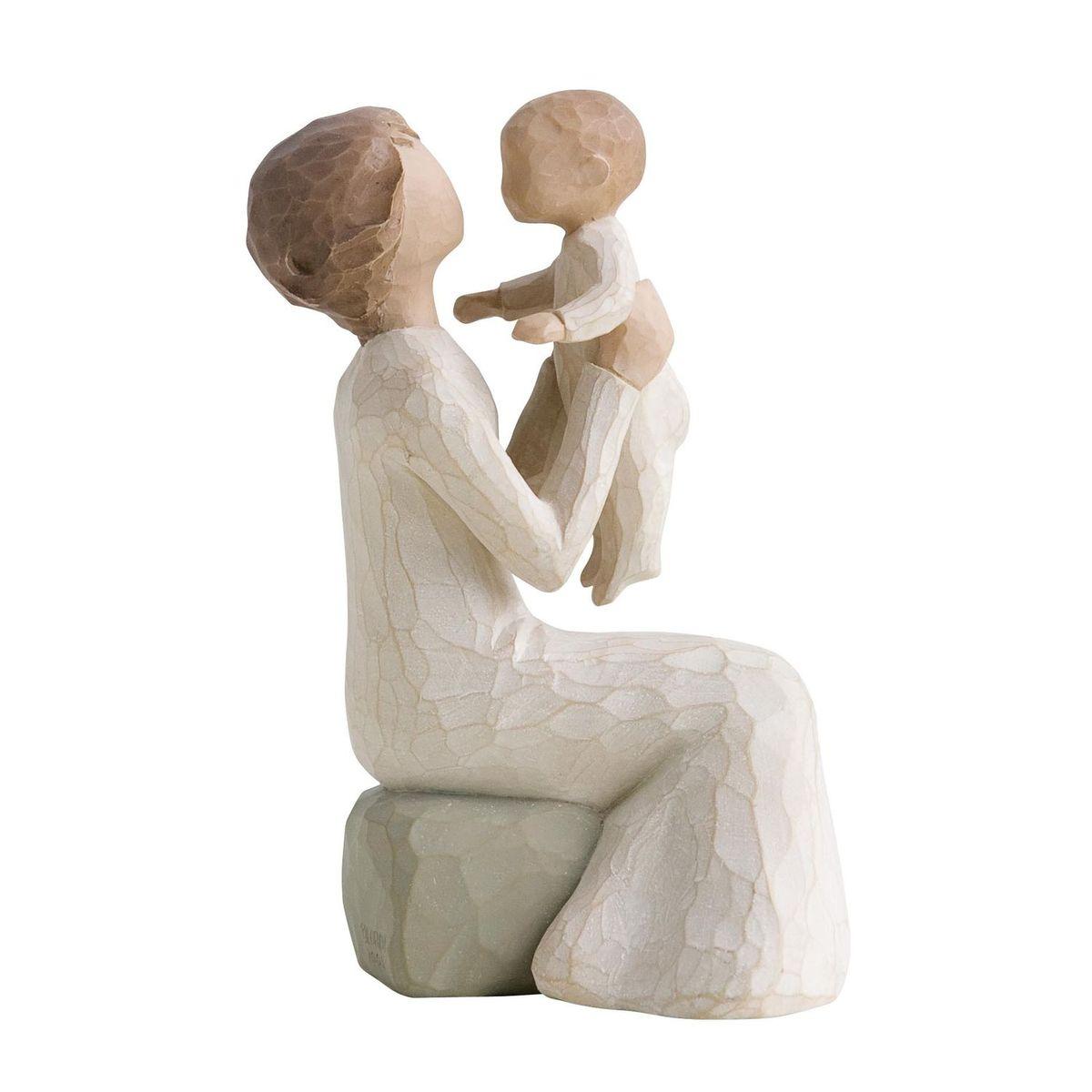 Фигурка декоративная Willow Tree Бабушка, высота 14,5 см26072Декоративная фигурка Willow Tree создана канадским скульптором Сьюзан Лорди. Фигурка выполнена из искусственного камня (49% карбонат кальция мелкозернистой разновидности, 51% искусственный камень).Фигурка Willow Tree – это настоящее произведение искусства, образная скульптура в миниатюре, изображающая эмоции и чувства, которые помогают чувствовать себя ближе к другим, верить в мечту, выражать любовь.Фигурка помещена в красивую упаковку.Купить такой оригинальный подарок, значит не только украсить интерьер помещения или жилой комнаты, но выразить свое глубокое отношение к любимому человеку. Этот прекрасный сувенир будет лучшим подарком на день ангела, именины, день рождения, юбилей.